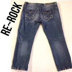 REROCK for Express Capri Jeans, Size 6